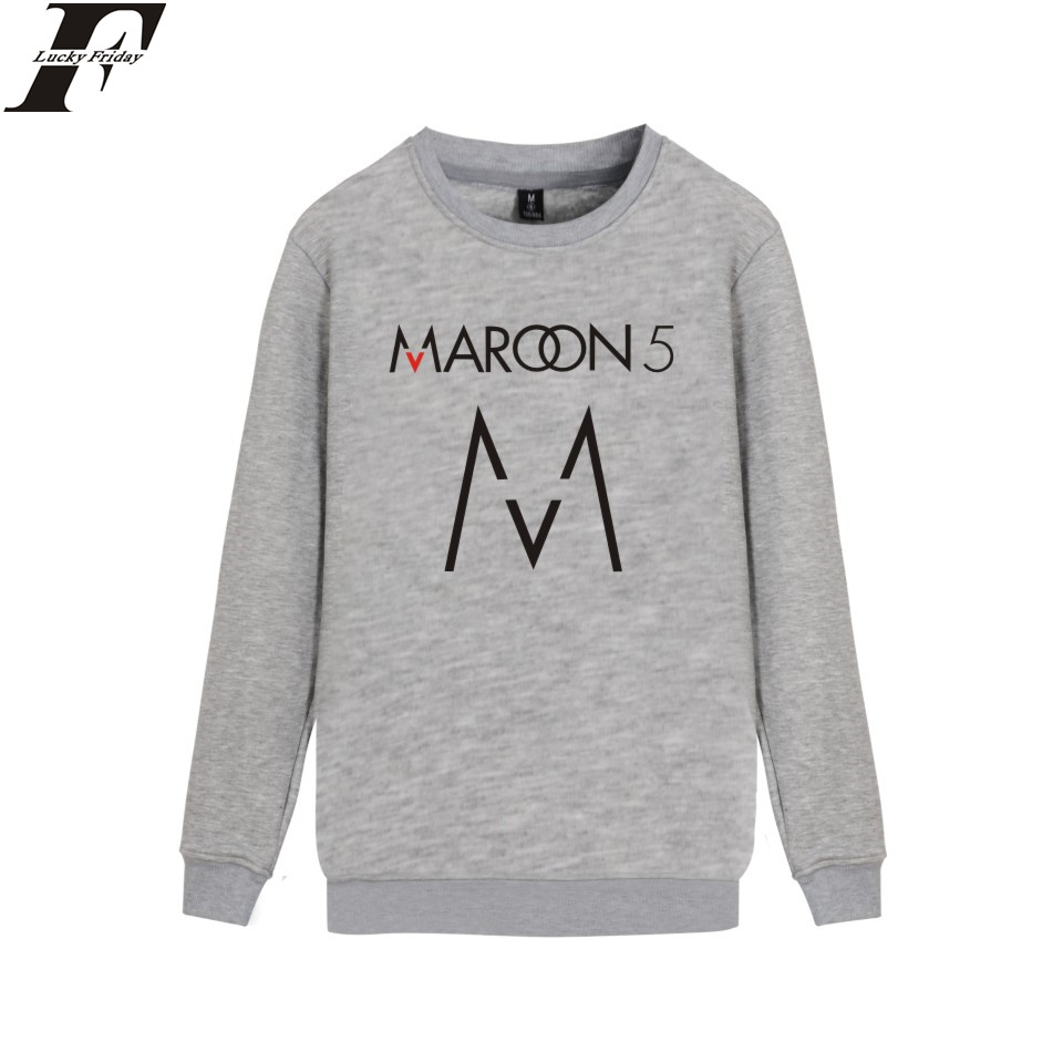 LUCKYFRIDAYF Maroon 5 Music Band Hoodie Sweatshirt Rock Hip Pop Fashion Print Men Streetwear Pullover Boys Oversize Cool Design