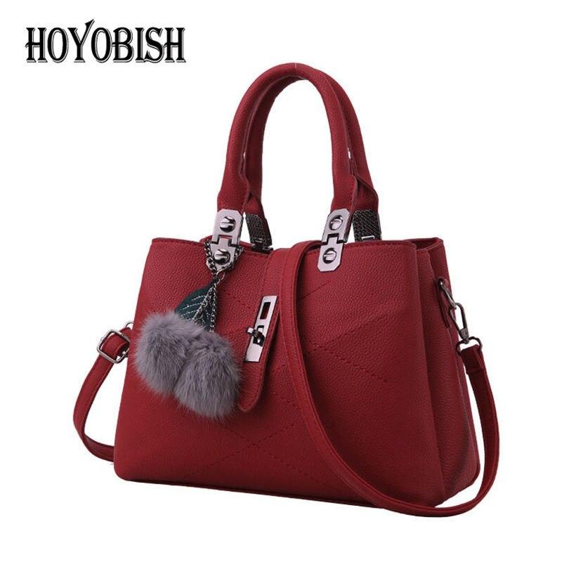 HOYOBISH Original Design High Quality Leather Women Tote Bag Handbags 2017 Luxury Female Crossbody Bag Lady Messenger Bags OH117 high quality tote bag composite bag 2