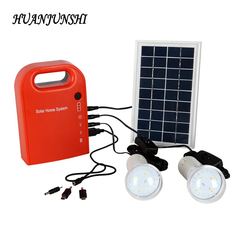 Solar Panel Home Lighting System Outdoor Camping Led