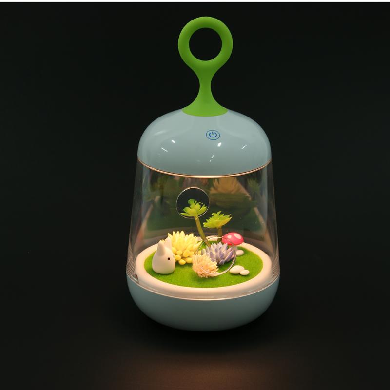 Charming Creative Rabbit Night Light LED USB Rechargeable Touch Dimmer Table Light Pant Portable Light for Kids Baby