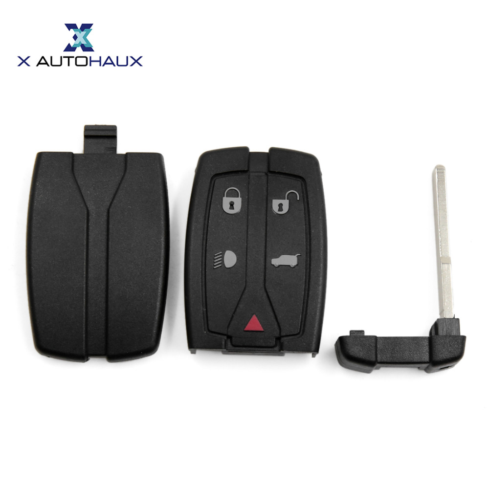 X AUTOHAUX 5 Buttons Insert Key Fob Remote Case Shell Replacement 3043A-TX9 For Land Rover Freelander Discovery 2