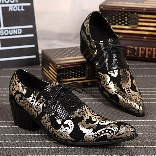 Men Fashion Retro Casual Shoes Flats Loafers Pointed Toe Lace Up Mixed Colors Totem Spring Autumn Winter Wholesale Men Shoes