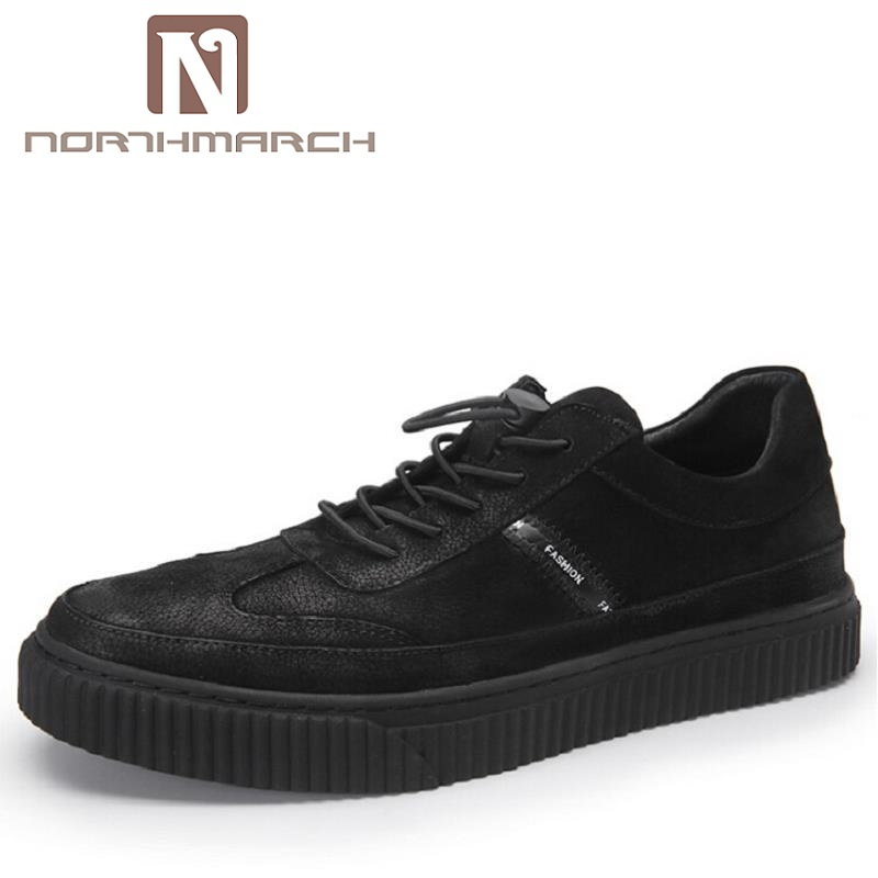 NORTHMARCH New Luxury Fashion Black Casual Shoes Men Classic Breathable Shoes Comfort Walking Driving Shoes Men Trainers branded men s penny loafes casual men s full grain leather emboss crocodile boat shoes slip on breathable moccasin driving shoes
