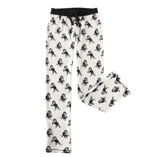 5aad1a7e1c America Order Spring Summer Women Monkey Cotton Pajama Pants Girls Elastic  Middle Waist Homewear Cartoon Pants Free Shipping