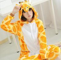 New Hot Sale Lovely Cheap Kigurumi Pajamas Anime Giraffe Cosplay Costume Unisex Adult Yellow Dress Sleepwear