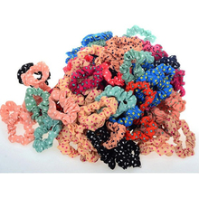 10pcs/lot Lovely Kids Children Hair Scrunchies Dot Rubber Rope Bands Accessories For Women Girls Elastic hair bands