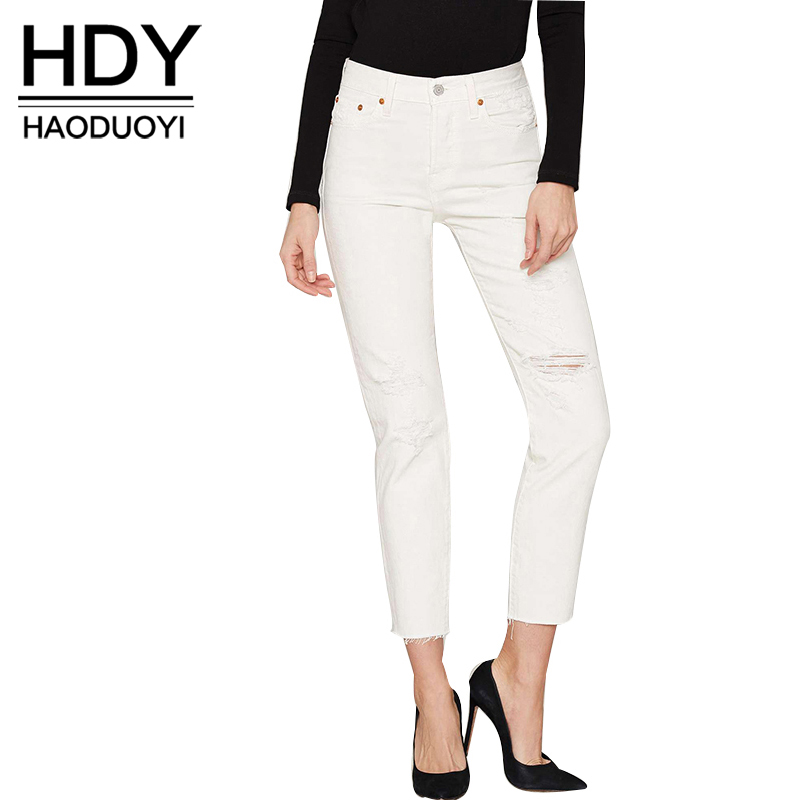 Online Buy Wholesale white jeans woman from China white jeans