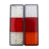 Universal 75 LED 2PCs Truck Trailer Lorry Caravan Stop Rear Tail Indicator Light Lamp 12V Waterproof