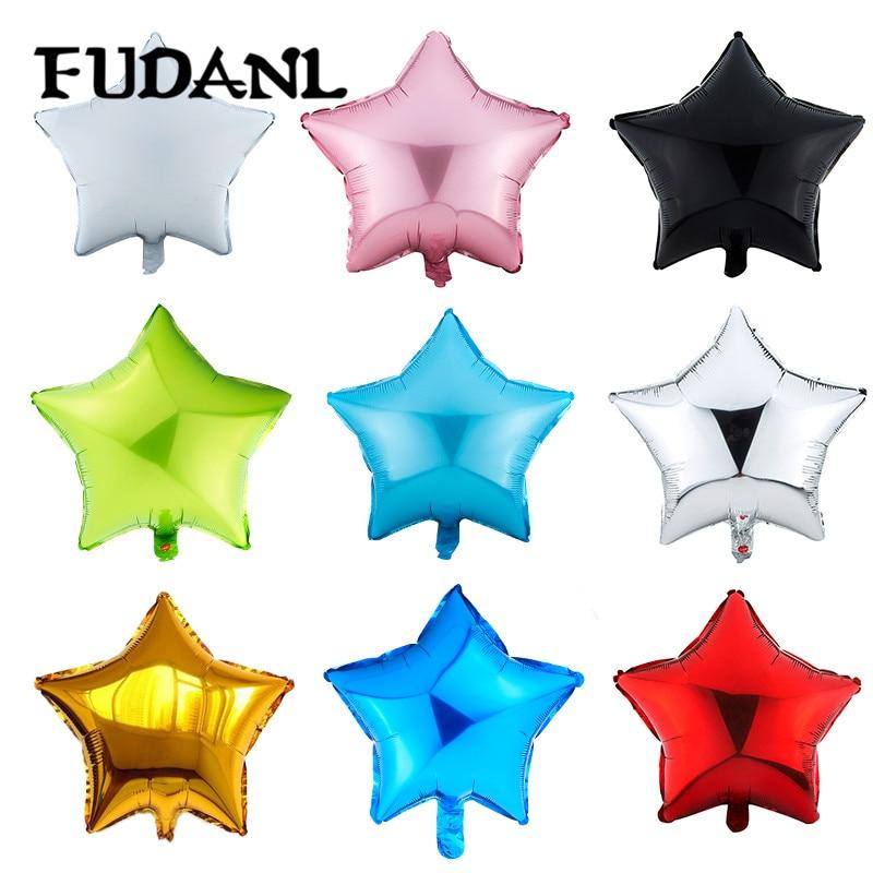 18 дюймов вышивка «звёздочки» или «бриллианты» круглый Форма гелиевый шарик из фольги/воздушные шары для свадьбы и дня рождения для рождест...