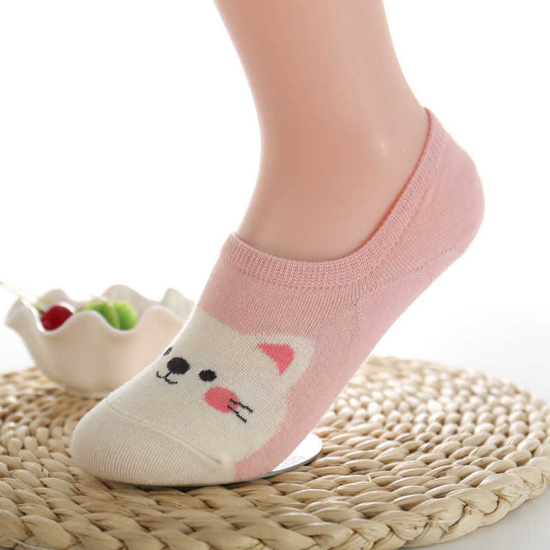 ede8c17865 New Free Shipping Women Candy Color Sock Small Animal Cartoon Short 100%  Cotton Boat Socks Breathable Casual Ladies Funny Sock