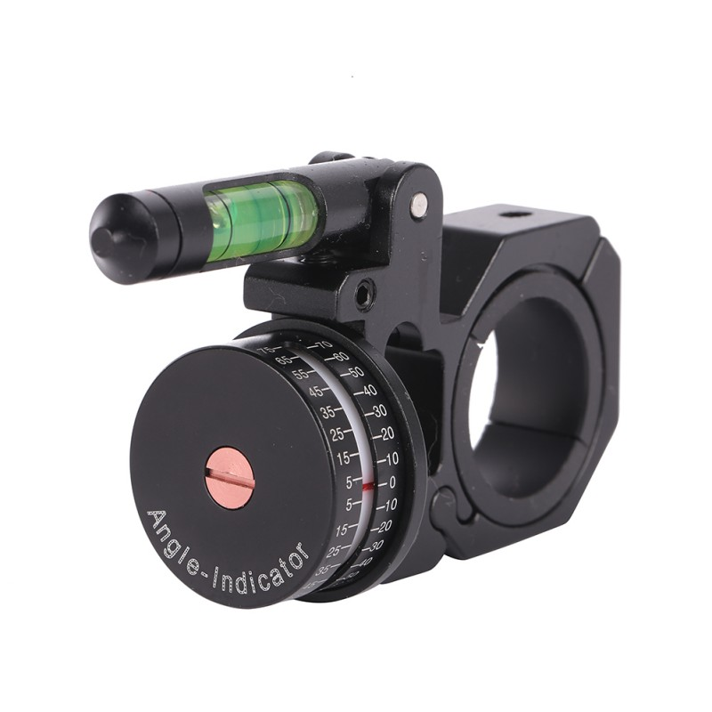 Outdoor Black Hunting Sports Rifle Scopes Angle Indicator With Bubble Level Fit 25 4mm And 30mm