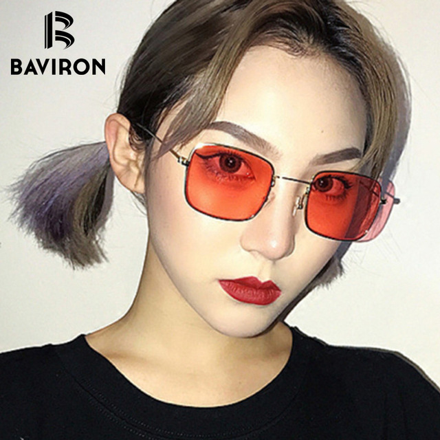 9e47269653 BAVIRON Vintage Square Oversized Sunglasses Women Fashion Metal Frame Sun  Glasses Brand Designer Eyewear for Women