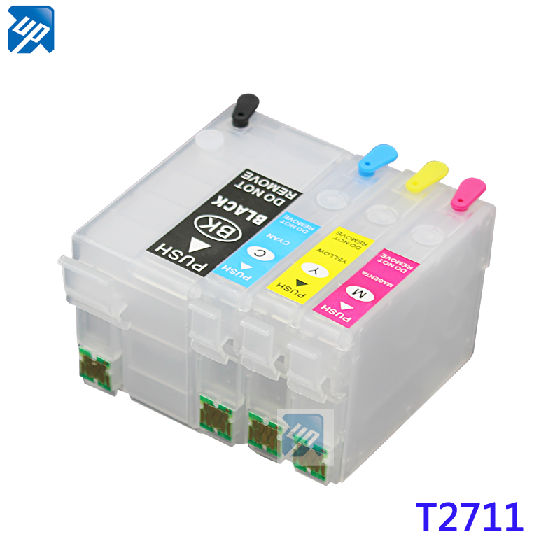 5sets 27XL T2711 Refillable ink cartridge with ARC chip for epson WF7110 7620 WF3620 WF3640 7110DTW