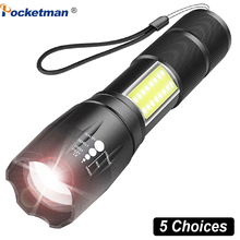 Super Bright Mini COB LED Flashlight T6 Led Torch COB Flashlights 4 Modes Zoomab