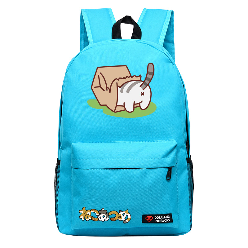 2017Game Neko Atsume Backpack for Teenagers Cat Backyard school bags Candy Color Unisex mochila Anime BackpackKitty backyard bag kitty cat backyard neko atsume backpack comic periphery dual portable canvas shoulders bag cartoon accessory kids anime gift