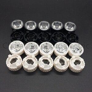 20pcs/lot LED lens for 1W 3w LED light black white holder 20mm high quality 5 10 30 45 60 90 120 degree optical lens