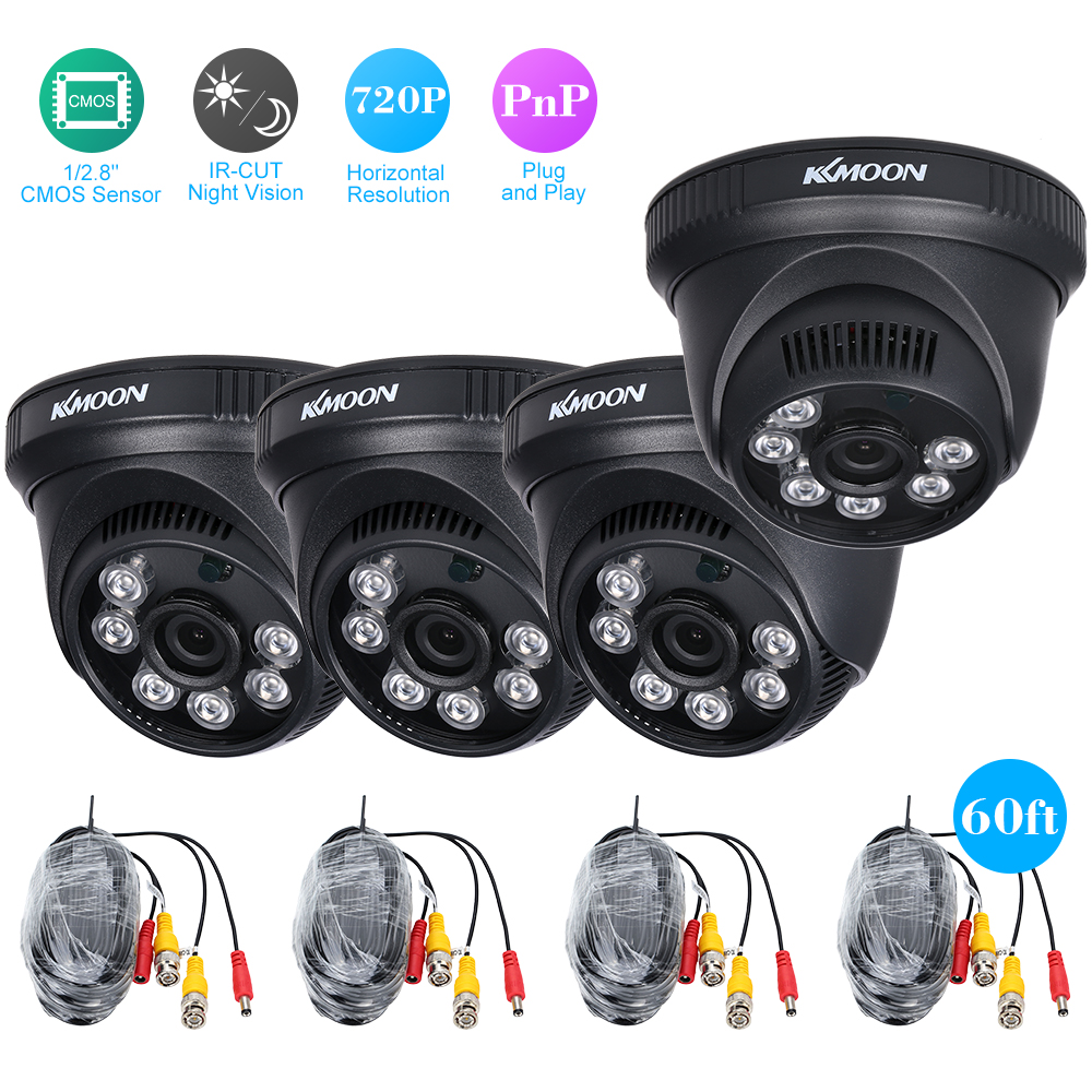 AHD Dome CCTV Camera Video Surveillance Support IR-CUT Night Vision 6pcs Array Infrared Lamps 1/2.8'' CMOS Security PAL System