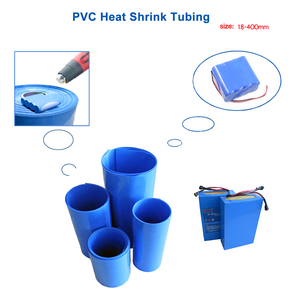 PVC o długości 2M rurka termokurczliwa 18-350mm 18650 izolacji akumulatora ciepła skurcz rękaw kablowy termokurczliwy niebieski pakowania w folię termokurczliwą rurka termokurczliwa