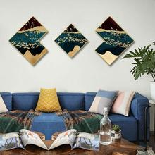 Creative irregular 3pcs/set INS Abstract gold foil living room background wall painting corridor Hotel decorative