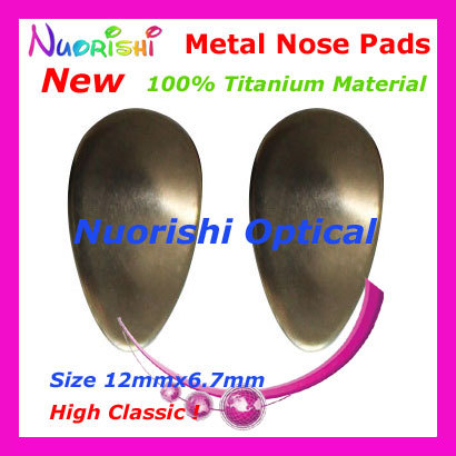 10pcs 100% Pure Titanium Glasses Eyeglass Eyewear Metal Nose Pads MET01 Non-toxic Non-magnetic Non-metal allergy