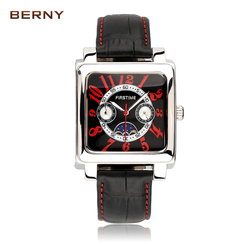 BERNY 2017 New Top Brand Genuine Role Watches Men Fashion Classic Outdoor Sport Mens Quartz Wrist Watch Relogio Masculino 2288M 2017 new top fashion time limited relogio masculino mans watches sale sport watch blacl waterproof case quartz man wristwatches
