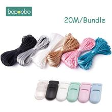 Nylon Rope 20M/Lot Satin Cords 1mm DIY String Accessary Findings Baby Silicone Teething Plastic Clip Teether