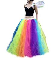 In Stock Princess Multi Tulle Women Rainbow Petticoat Underskirt Tutu Skirts for Party