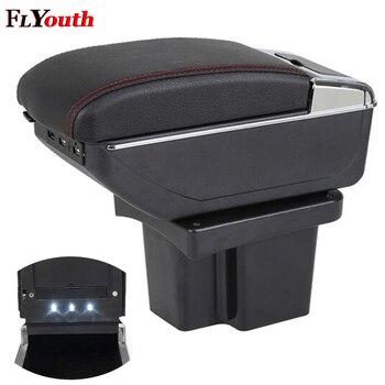 Armlehne Box Für Kia Cerato Forte k3 2009-2016 USB Lade LED Licht Auto Arm Rest Drehbare Centre Konsole lagerung Box