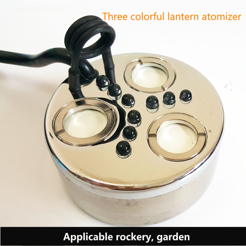 Ultrasonic Atomizer Head Three Color Atomizer Rockery Landscape Spray Aquarium Industrial Humidifier Fog Machine Mist MakerUltrasonic Atomizer Head Three Color Atomizer Rockery Landscape Spray Aquarium Industrial Humidifier Fog Machine Mist Maker
