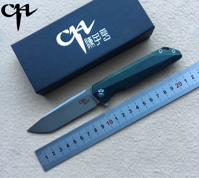 NEW CH3507 Flipper folding knife M390 Blade ball bearings TC4 Titanium handle camping hunting pocket fruit Knives EDC tools цена