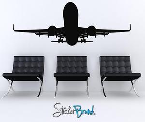 Image 1 - Lớn máy bay vận tải vinyl dán tường trẻ phòng học ký túc xá nhà trang trí dán tường 2FJ13