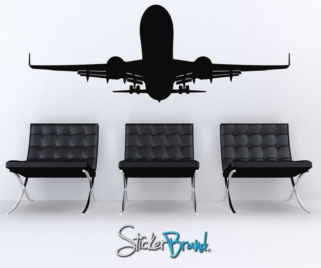 Lớn máy bay vận tải vinyl dán tường trẻ phòng học ký túc xá nhà trang trí dán tường 2FJ13