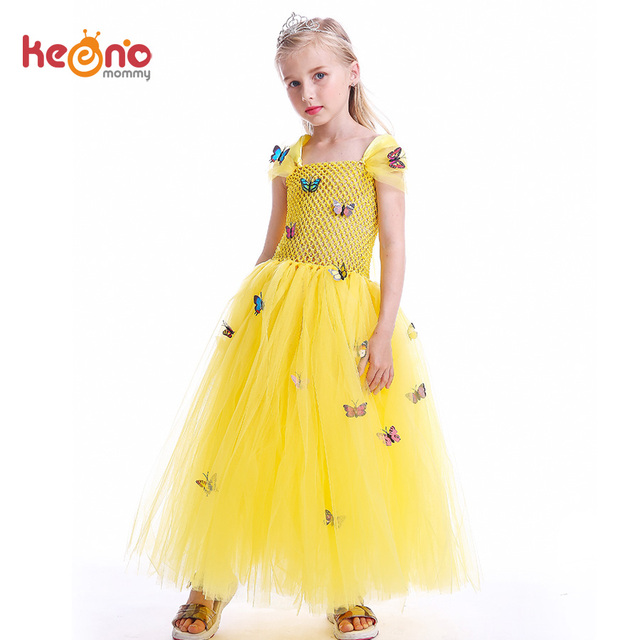 Princess Belle Tutu Dress For Birthday Costume Or Photo Shoot Stunning Yellow Ball Gown Beauty And