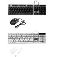 Alloyseed Gaming Keyboard Проводной USB Подсветка геймер Клавиатуры 104 ключей с 1600 Точек на дюйм с подсветкой Мышь комплект
