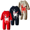 Plus Velet Winter Baby Rompers Cotton Warm Deer Prints Baby Clothes Fashion Baby Boy Romper Infant Costume Newborn Girl Clothing