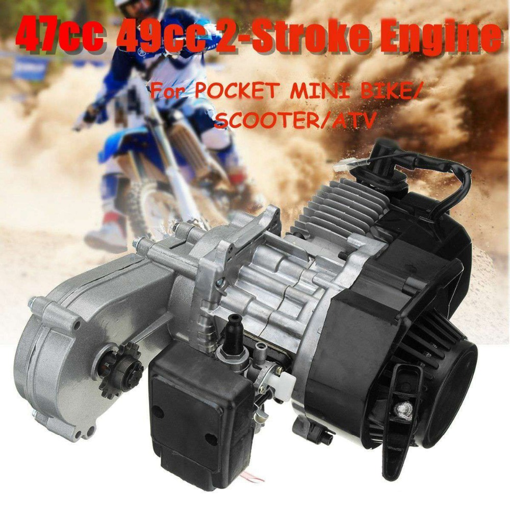 47cc 49cc Engine 2-Stroke Motor with Transmission For Pocket Bike Mini ATV Scooter