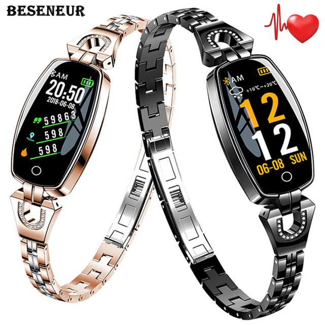 Beseneur Women Smart Watch with Heart Rate Monitor Blood Pressure Activity Fitness Tracker Woman Smartwatch Ladies Wristwatch