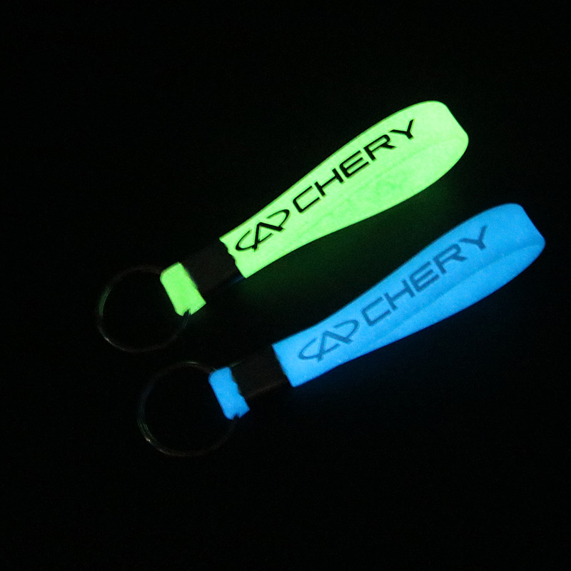 New Luminous Car-Styling Silicone Keychain Car Sticker Key Ring For Chery Tiggo 5 Fulwin A1 A3 Key Chain Accessories
