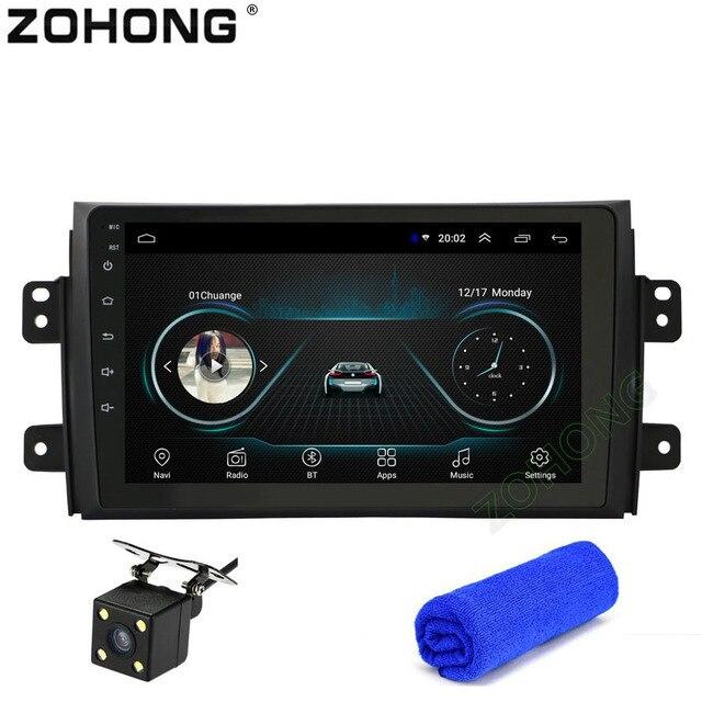 2.5D 9 インチのアンドロイド 8.1 車の Dvd プレーヤー SX4 SX-4 2007 2008 2009 2010 2006-2013 GPS ナビゲーション Autoradio マルチメディア BT