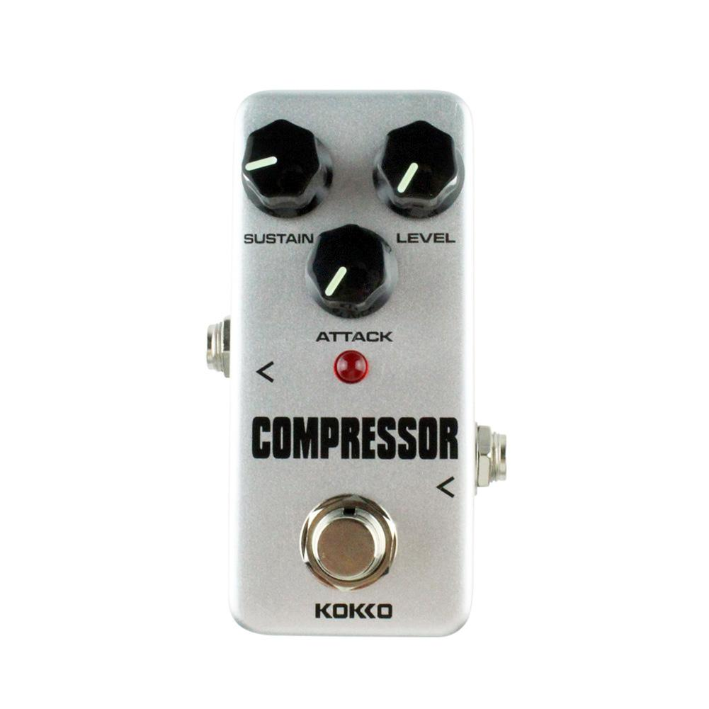 KOKKO FCP-2 Electric Guitar Compressor Mini Pedal Electric Bass Guitar Effects Ture Bypass Guitarra Part Accessories mini guitar effect pedal tuner ture bypass kokko ftn 2