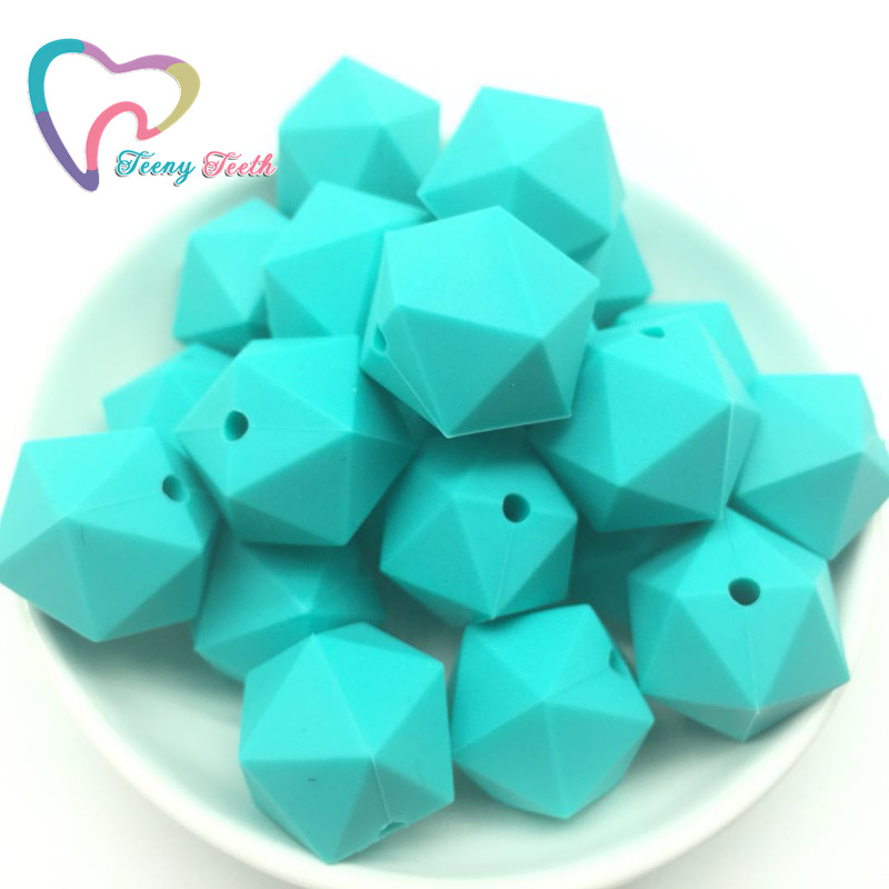 Orderly Teeny Teeth 10 Pcs Silicone Beads Icosahedron Shape Beads For Silicone Baby Teethers Diy Shower Gift Nursing Necklace Jewelry & Accessories Beads & Jewelry Making