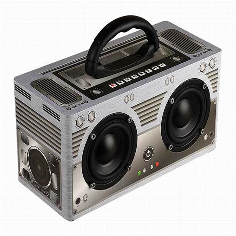 Acoustic Active Speaker System Portable Column  Sound Bomb Vintage Retro Wooden Speaker Wireless Bluetooth 4.2 Subwoofer Box