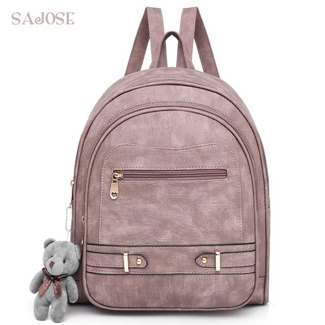 School Bags For Teenage Girls High Quality Designer Leather Backpack Famous  Brand Women Cute Pink Student Shoulder Bag With Lady 9cc9e4ffe3b7a