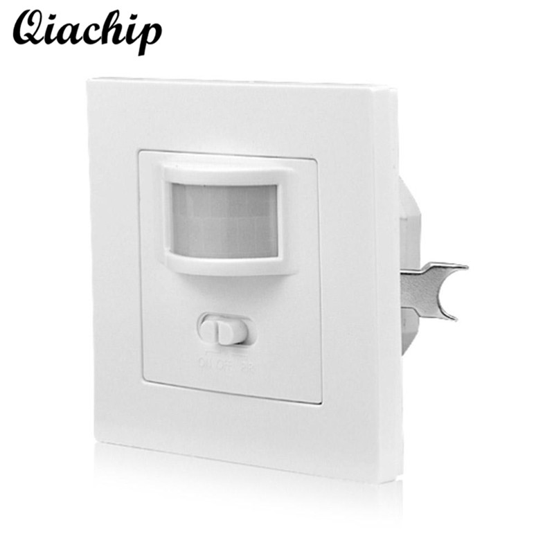 QIACHIP AC 110V-240V Smart Home Infrared PIR Motion Sensor Switch Auto ON/OFF Human Body Move IR Induction Wall Module LED Light auto pir led keyhole light genjia human body infrared door lock induction lamp built in 4 led motion sensor light with sticker