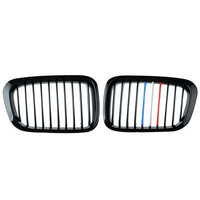 1 Pair For BMW E46 3 Series 4 Door 1998-2001 Front Center Kidney Grilles Matte Black 1998-2001 Car Grill New Arrival