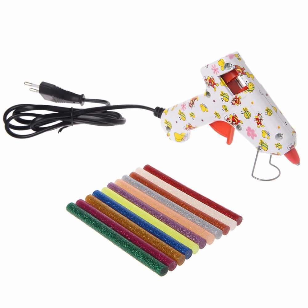 11 ピースホットメルトスティックのりミックスカラーグリッター粘度 DIY クラフトおもちゃの修復ツール