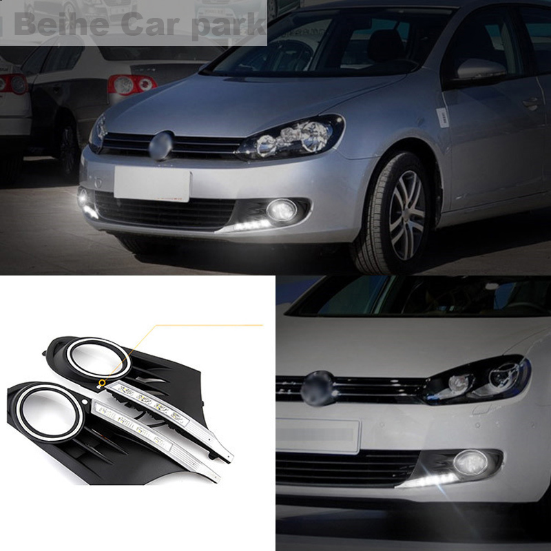 2pcs For Volkswagen Golf 6 2010-2014 High quality Car styling New LED DRL Car-special LED Daytime Running Light
