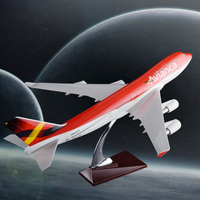 47cm Boeing 747 Columbia Airlines Airplane Model Resin B747-400 Avianca Airways Airbus Model Creative Travel Gift Aircraft Model
