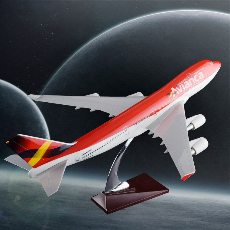 47cm Boeing 747 Columbia Airlines Airplane Model Resin B747 Avianca Airways Airbus Model Creative Travel Gift Aircraft Model special offer wings dragon 56248 thailand airlines hs tgp 1 400 b747 400 commercial jetliners plane model hobby