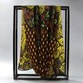 [ SUMEIKE ] 160 * 50 CM pavo real de la bufanda mujeres marca de diseño de verano chales de gasa bufanda para mujer bufandas